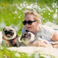 Человек собаке друг, это знают все вокруг ) :: Elena Cherkasova