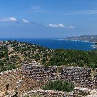 Kritinia Castle  & Aegean Sea. :: Геннадий Слёзкин