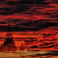 28.06.15г. Закат над Москвой. :: Дмитрий Воронин