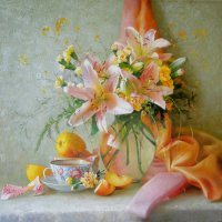 натюрморт с цветами :: Геннадий Тимин