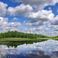 Облака над озером :: Валерий Талашов