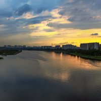 Москва река после заката :: Zifa Dimitrieva