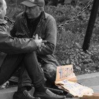 """""""Честно на бухло ...как есть."""" Москва, возле парка им. Горького :: Антон Банков"""