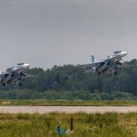 Взлет пары Су-30СМ :: Павел Myth Буканов