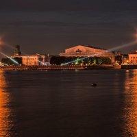 Вид на Стрелку ночью :: Владимир Колесников