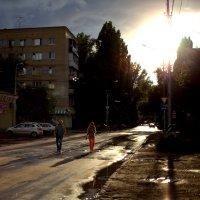 Закат на Посадской улице :: Ильгам Кильдеев