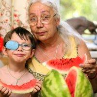 Самые любимые Мамочка и мой крестник Вовочка :: Аннета /Анна/ Шу