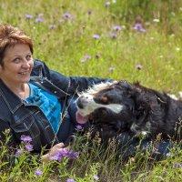 Елена с собакой полей... :: Владимир Питерский