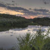 После заката. Река Самара. :: Дмитрий С... .