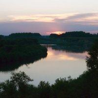 Закат на реке Яя :: Андрей Беспалов