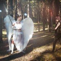 Белый VS Черный ангел :: Мария Дергунова