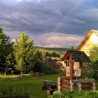 Погожий вечер в деревне. :: Пётр Сесекин