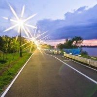 Огни на вечерней набережной. :: Виктор Евстратов