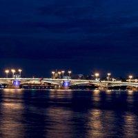 Благовещенский мост ночью :: Alexey alexeyseafarer@gmail.com