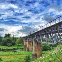 Железнодорожный мост речер реку Жиздра в Козельске :: Ирина Бирюкова