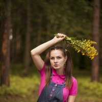Катя с букетом :: Женя Рыжов