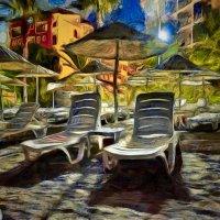 Пляж, ночь, фонарь :: Игорь Иванов
