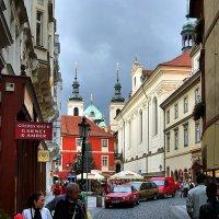 ул. Карлова и церковь Св. Сальвадора в Праге :: Денис Кораблёв