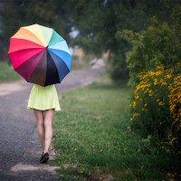 "Зонт ""Радуга"", непогода, Анюта... :: Alex Lipchansky"