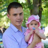 Папа с дочкой :: Вероника Полканова
