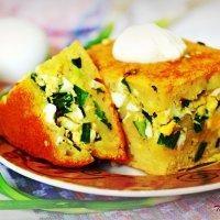 Заливной пирог с луком и яйцом :: TATYANA PODYMA