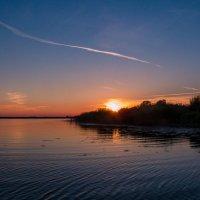 Закат на Псковском озере :: Николай Густов