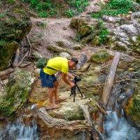 На водопаде :: Эдуард Пиолий