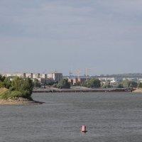 Бтйск. Понтонный мост. :: Олег Афанасьевич Сергеев