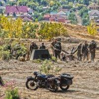 реконструкцию эпизода Сталинградской битвы :: Александр Черный