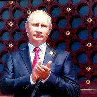 Путин на параде в Пекине :: Анастасия Безуглая
