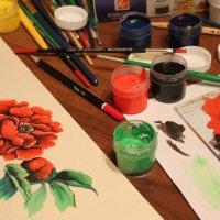 Когда-то папа рисовал пионы...почему бы не запечатлить) :: Таня(Яна) Ерофеева