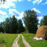 Пейзаж со стогом сена :: Владимир Андреевич Ульянов
