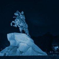 Ночь, Медный всадник :: Сергей Sahoganin