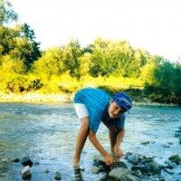 Строительство запруды на горной реке. :: Наталья Лебедева