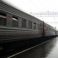 Мокрый перрон расставаний и встреч :: Галина Galina