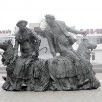Памятник Гениальным Русским Клоунам Юрию Никулину и Михаилу Шуйдину :: Геннадий Храмцов