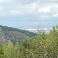 """Такмак"", небо и осенний лес :: Анна Гульбинас"