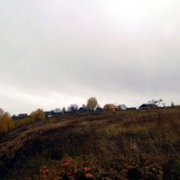 Осенний вид на деревню Красная Гора :: Николай Туркин