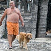 несебр, дождь, мужик :: Олег