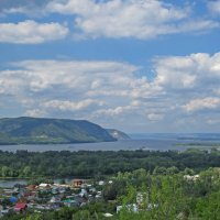 Волга и Жигули.Вид с горы Тип-Тяв. :: Милада *