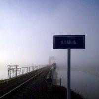Мост через реку Вымь в утреннем тумане :: Николай Туркин