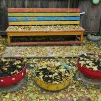 Присела осень на скамейку. :: nadyasilyuk Вознюк