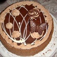 Шоколадный тортик :: Нина Корешкова