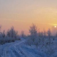 Туманное зимнее утро :: Иван Анисимов