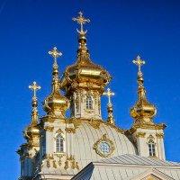 Купола придворного храма в Петергофе :: Ирина Варская