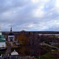 Село Усть-Вымь. Вид на Вымь и Вычегду. :: Николай Туркин