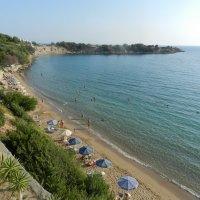 Греция, Родос, пляж :: Лев