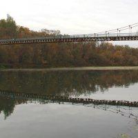 Пешеходный мост через Оку. :: Борис Митрохин