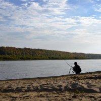 Одинокий рыбачок... :: Николай Варламов