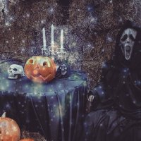 Открытка на Halloween :: Ксения Паращенко